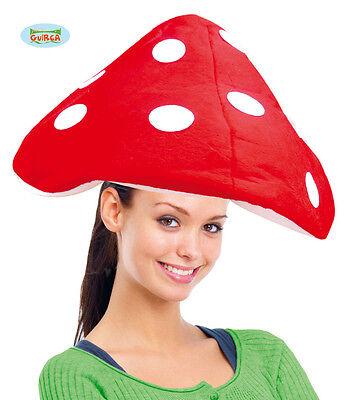 HUT PILZ AUS FROTTEE Mushroom Rot Erwachsene Karneval - Erwachsene Roter Pilz Hut