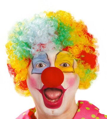 Lockige Halloween Perücke Kostüme (Erwachsene Bunt Rainbow Zirkus Lockig Afro Clownperücke Halloween Kostüm)