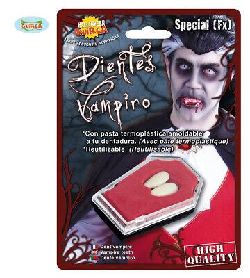 Denti in Termoplastica Vampiro Canini Dracula Halloween Adulto Carnevale Nuovo