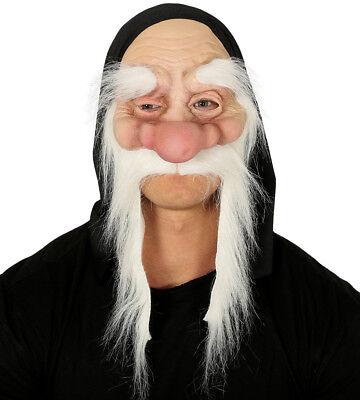 erg Maske & Lange Weiß Schnurrbart Zauberer (Alter Mann Schnurrbart)