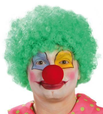 Parrucca riccia verde clown pagliaccio
