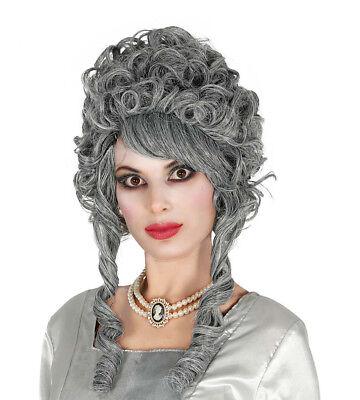 Marie Antoinette Ladies Grey Fancy Dress Wig Georgian - Marie Antoinette Fancy Dress Kostüme