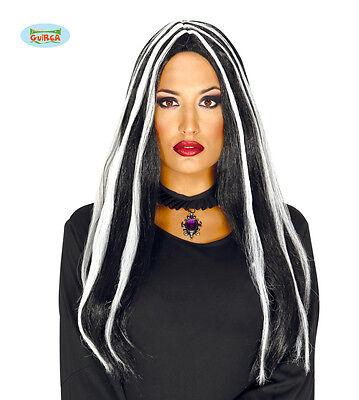 Peru 2 Halloween (2 HEXEN Perücke schwarz/weis 100 % Polyester HALLOWEEN  Fasching DEKO Perücken)