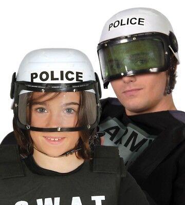 Adults Kids Swat Team Police Riot Gear Hero Helmet Fancy Dress Accessory Hat - Swat Team Helmet