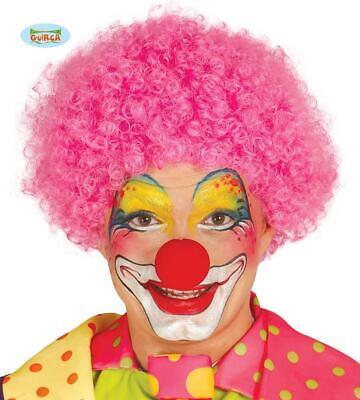 Parrucca riccia rosa clown pagliaccio