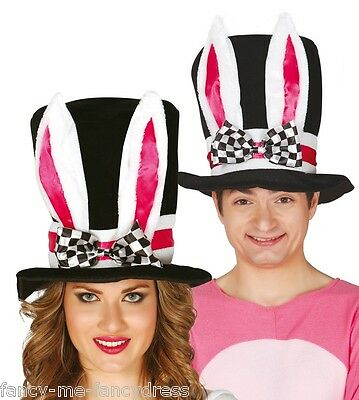 Herren Damen Verrückter Hutmacher Weißen Kaninchen Alice im Wunderland