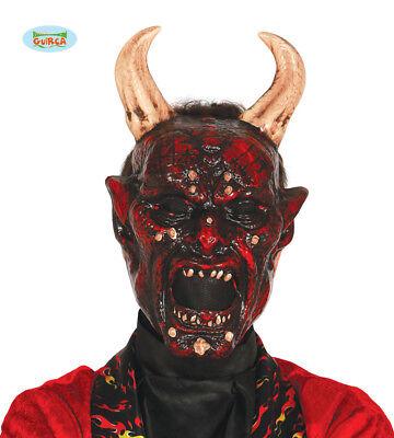 GUIRCA Maschera belzebù diavolo halloween carnevale adulto          mod. 2787