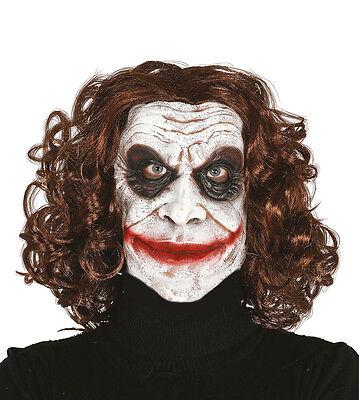 Hofnarr Joker Maske Evil Comicbuch Bösewicht Halloween Horror - Comic Bösewichte Kostüm