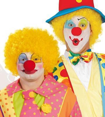 Parrucca riccia gialla clown pagliaccio