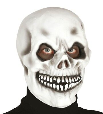 Erwachsene Latex Weiß Dead Of die Toten Skelettmaske - Halloween Die Weiße Maske