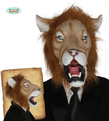GUIRCA Maschera leone carnevale halloween uomo donna adulto mod. 2465