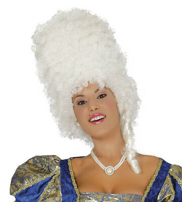 Weiß Barock Bienenkorb Perücke Halloween Kostüm Damen Zubehör Pantomime Epoch