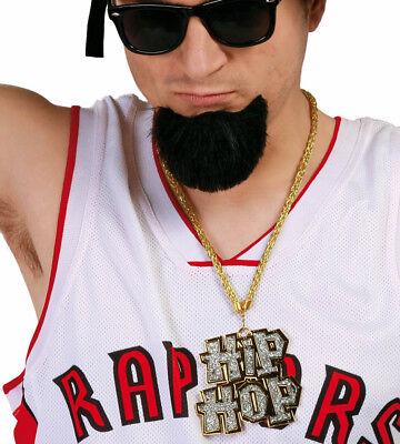Gold Hip Hop Halskette Goon Anhänger Rapper Rap Bling Kostüm - Bling Halskette Kostüm