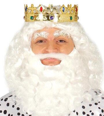 Deluxe Gold Glänzend Kings Krone Neptun Maskenkostüm Krone Juwelen Royalty