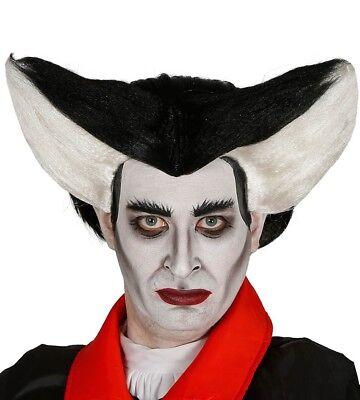 Erwachsene Schwarz und Weiß Vampir Perücke Kostüm Halloween Zubehör