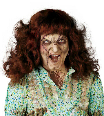 Exorcism Halloween Costumes (Possessed Girl Wig Horror Halloween Fancy Dress Exorcist Costume Exorcism)