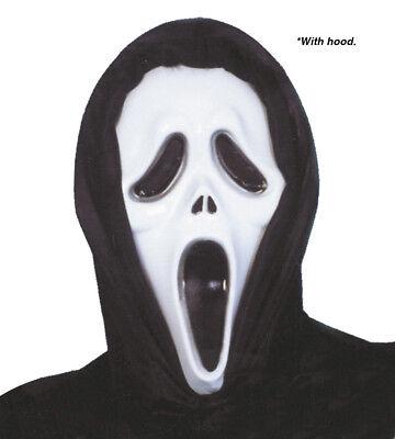 Fantasmas Para Halloween (Adulto Halloween Scream Máscara con Capucha Accesorio para Disfraz)