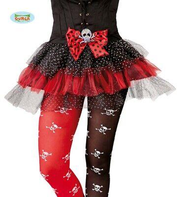 rot schwarzer Totenkopf Tütü Rock Halloween Karneval Party Kostüm für Damen
