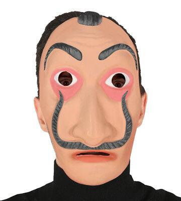 Geld Heist Maske Salvador Dali Kostüm Ufer Räuber Kostüm Halloween Maske