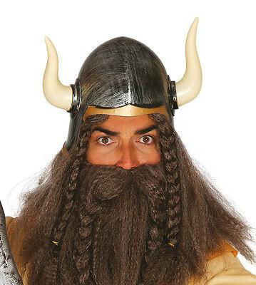 Barbar Wikinger Krieger Helm Kostüm mit Hörner Kostüm Larp (Gold Hörner Kostüm)