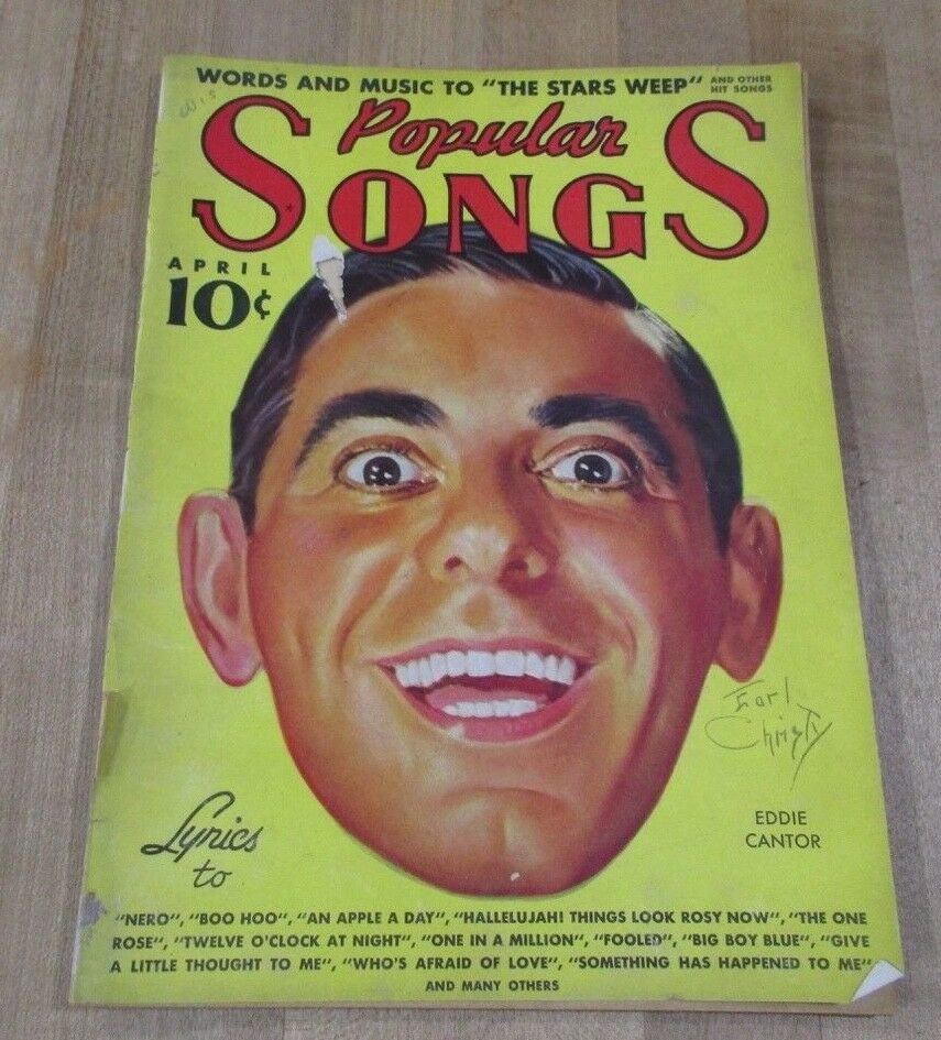 Popular Songs April 1937 Eddie Cantor Mitzi Green Lanny Ross Slim Pickens  - $7.99