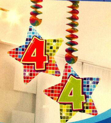 Rotorspirale 4 Jahre 2 Stück  Blocks Geburtstag Jubiläum Hängende Dekoration Neu