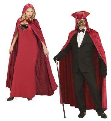 ANT 3569B Samt Umhang Rot Karneval Fasching Venedig - Roter Samt Umhang