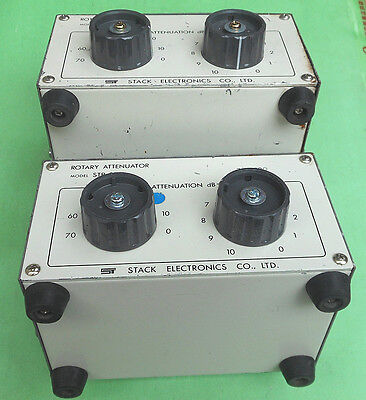 1pc STACK STP 015 0-80dB/2GHz N Handle step attenuator