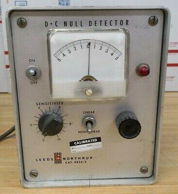 Vintage Ln Leeds Northrup Dc Null Detector Cat No 9834-2 I8138