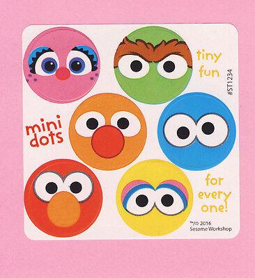 Sesame Street Big Dot - 90 Sesame Street Mini Dot Stickers - Elmo, Big Bird, Oscar, Cookie Monster