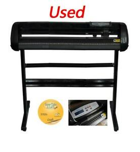 1set Used Vinyl 34inch 500g Cutter Plotter Craftedge Software (004560)