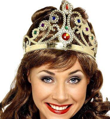 Damen Mädchen Kostüm Krone gold oder silber Tiara verstellbar Größen von Smiffys