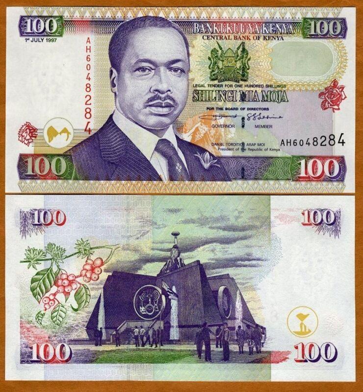 Kenya, 100 shillings, 1997, P-37b, UNC > Scarce