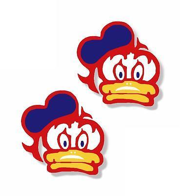 "x2 1"" Barry Sheene Duck Visor Sticker Decal (MORE in EBAY SHOP) X Small 32mm"