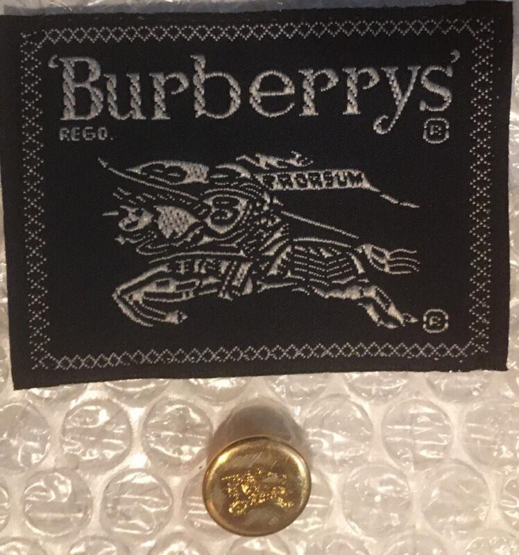 "Burberry Brass Blazer Button Prorsum Knight Logo Gold 5/8"" Sleeve Cuff"