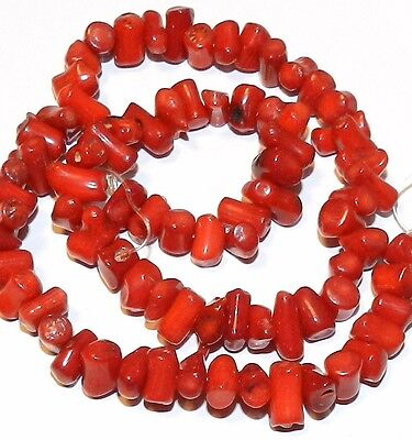 Red Bamboo (CRL148 Red Bamboo Coral Small 7mm - 12mm Freeform Cupolini Branch Beads)