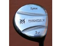 Lynx Predator V 3 Fairway wood. 15degree. RH. Graphite shaft