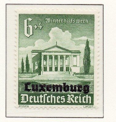Luxembourg 1941 Early Occupation Issue Fine Mint Hinged 6+4c. Optd 150943