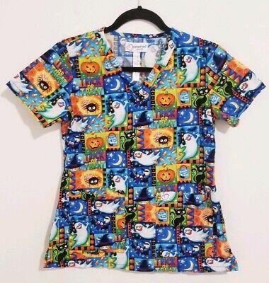 Peaches Uniform X-Small Nurse Halloween Trick Or Treat Scrub Top Shirt