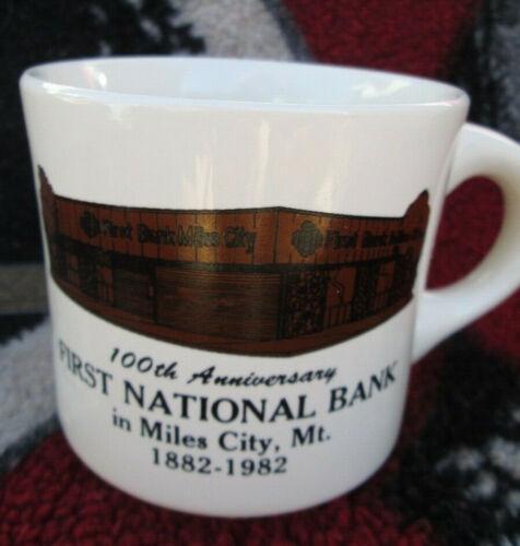 Vintage 100th Anniversary, First National Bank, Miles City, Montana, Cup/Mug.