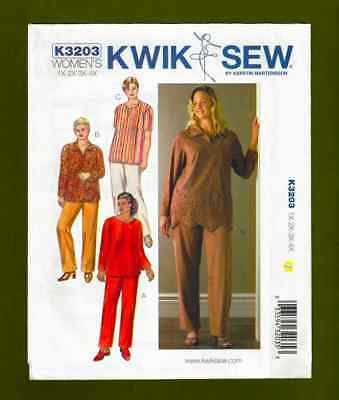 - Women's Tunics & Pants Sewing Pattern (Plus Sizes 1X-4X) Kwik Sew 3203