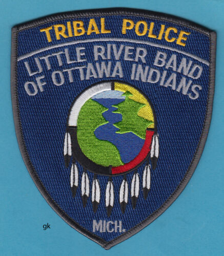 LITLE RIVER BAND OF OTTAWA INDIANS MICHIGAN TRIBAL POLICE SHOULDER  PATCH
