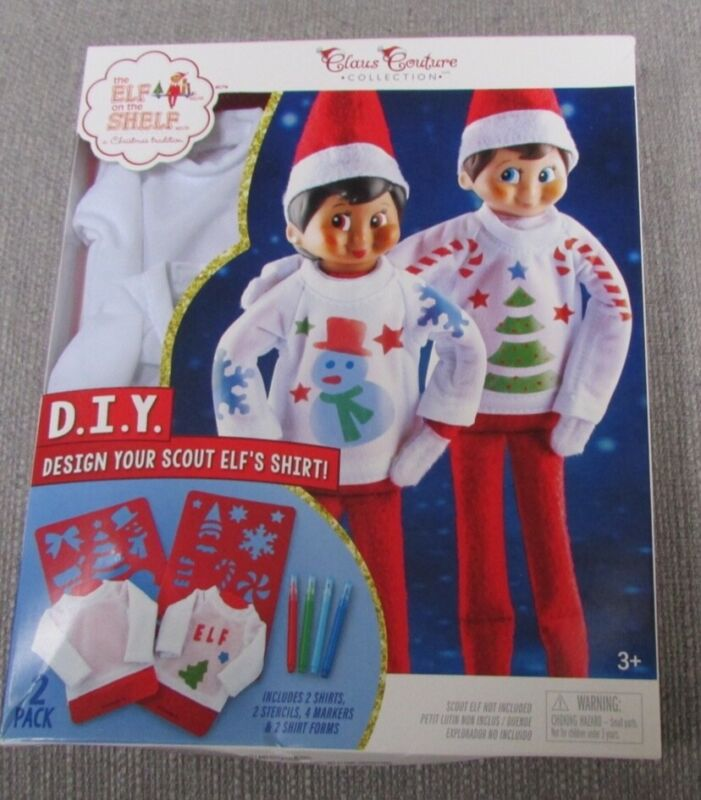 Elf on the Shelf D I Y Design Your Scout Elf Shirt Class Couture Collection NEW