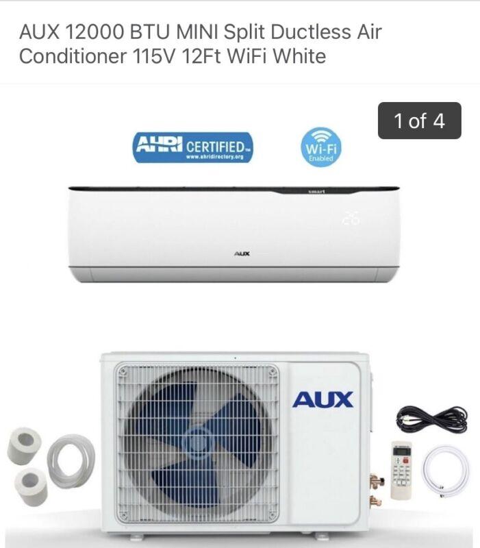 12000 btu mini split ac/heat wifi