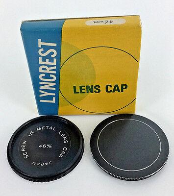 46 mm METAL screw-in LENS CAP Lyncrest made in JAPAN (Metal Lens Cap)