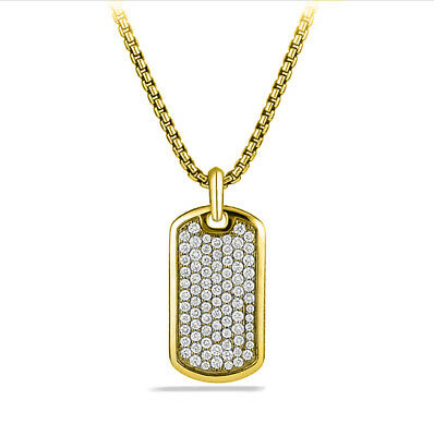 ICED OUT RAPPER DOUBLE DOG TAG 18k GOLD FILLED W 30