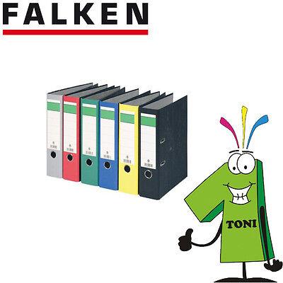 Falken Ordner Wolkenmarmorbezug A4 8cm breit alle Farben Briefordner Aktenordner