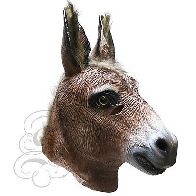 Latex Ganzer Kopf Tiere Realistische Esel Hochwertig Party Kostüm - Esel Kopf Kostüm