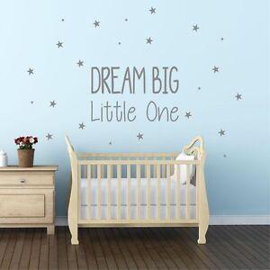 Dream Big Little One Wall Sticker Decal Nursery Kids