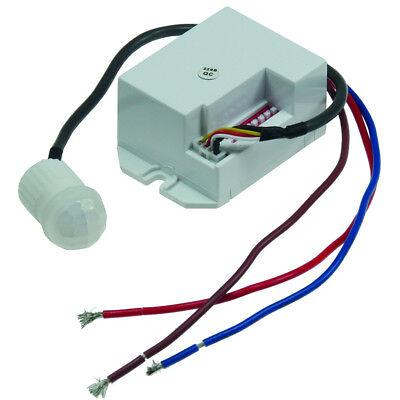 Mini Einbau-Bewegungsmelder 230V, 800W,   15mm, LED geeignet, weiß